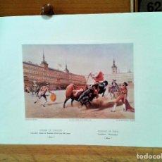 Coleccionismo: LITOGRAFIAS 4. CORRIDAS DE TOROS. AUTOR: BLANCHARD. IMPRESO POR CATTIER.. Lote 218732465