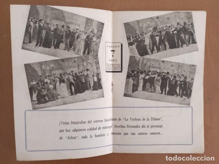 Coleccionismo: LA VERBENA DE LA PALOMA. 50 ANIVERSÁRIO. 1894-1944. PUBLICIDAD DE EPOCA TEATRO PRINCIPAL PALACIO - Foto 5 - 218735763