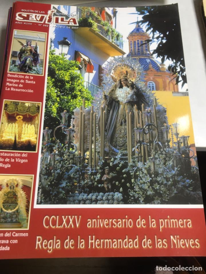 BOLETIN DE LAS COFRADIAS DE SEVILLA - Nº 582 - AGOSTO 2007 (Coleccionismo - Laminas, Programas y Otros Documentos)