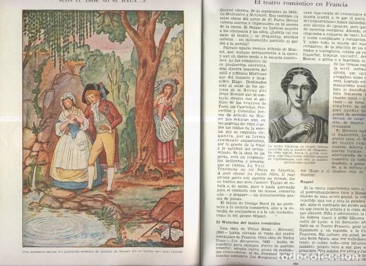 EL TEATRO ROMANTICO EN FRANCIA POR M.L.MORALES (Coleccionismo - Laminas, Programas y Otros Documentos)