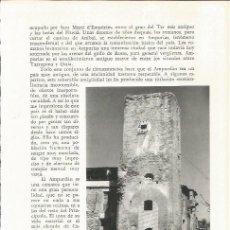 Coleccionismo: LAMINA 21576: TORRE DE VULLPELLAC. Lote 218817427