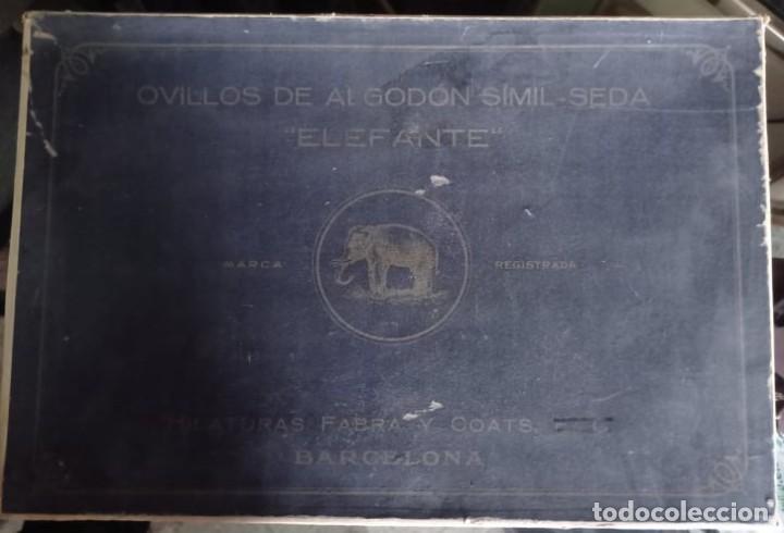 Coleccionismo: CAJA EXPOSITORA DE HILOS MARCA ELEFANTE - Foto 2 - 219077738