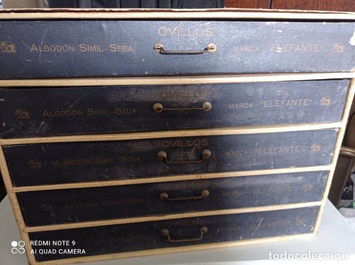 Coleccionismo: CAJA EXPOSITORA DE HILOS MARCA ELEFANTE - Foto 7 - 219077738