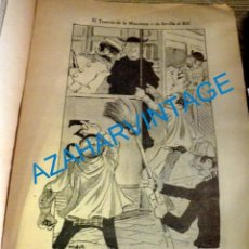 Coleccionismo: SEVILLA, 1902, CARICATURA EL TRANVIA DE LA MACARENA,FIRMADA POR MANOLO, 21X30 CM. Lote 219307343