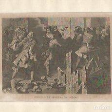 Coleccionismo: LAMINA 5309: FELIPE V SE APODERA DE LUZARA. Lote 219320935
