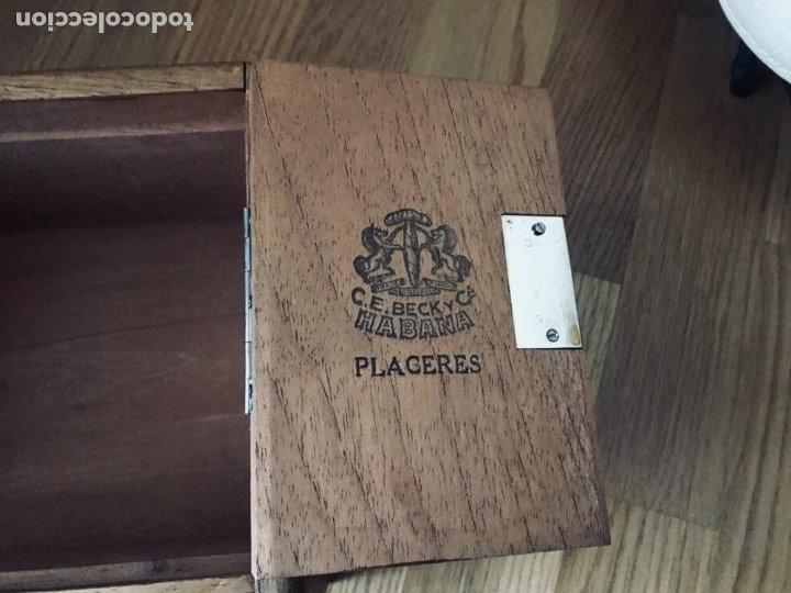 Coleccionismo: Magnifica y muy antigua caja de habanos (preembargo) C.E. Beck y Cia, 50 Placeres,vacia CON SU LLAVE - Foto 8 - 220548101