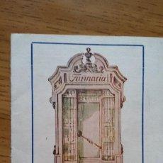 Coleccionismo: FARMACIA BOSQUED, ZARAGOZA. CARNET DE PESO -. Lote 220868615