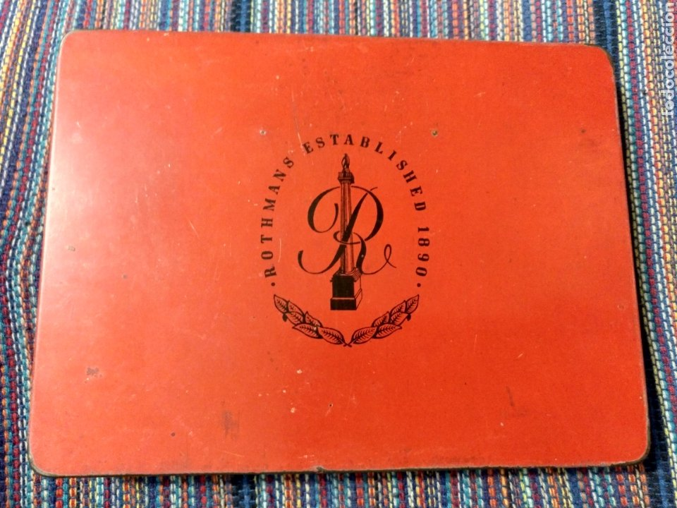Coleccionismo: CAJA METÁLICA ROTHMANS PALL MALL VIRGINIA MEDIUM SPECIAL APPOINTMENT ENGLAND INGLATERRA - Foto 2 - 220898680