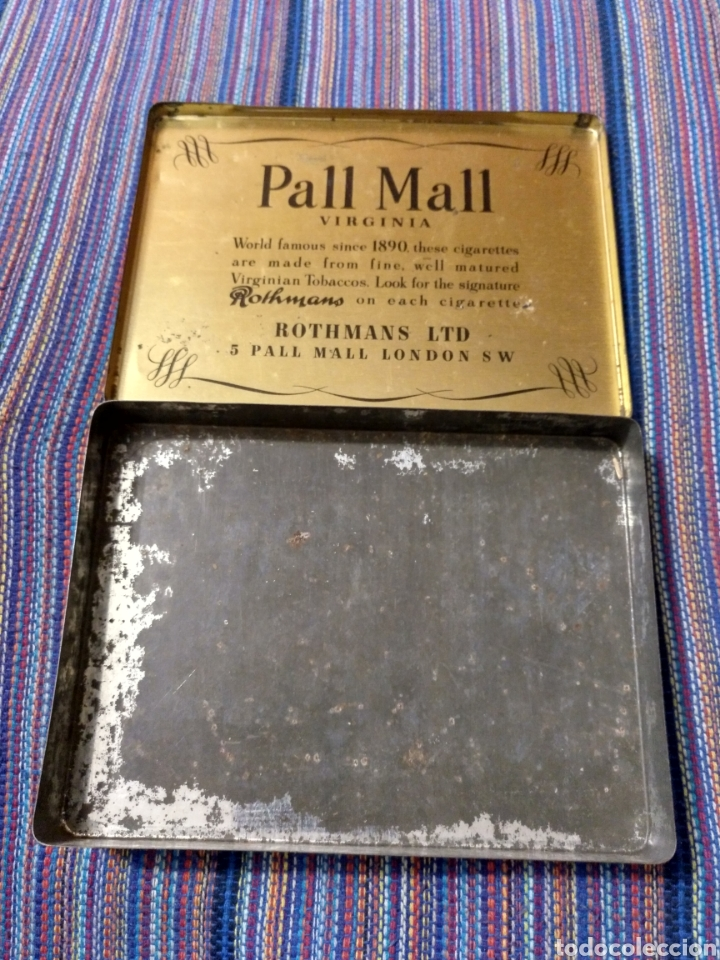 Coleccionismo: CAJA METÁLICA ROTHMANS PALL MALL VIRGINIA MEDIUM SPECIAL APPOINTMENT ENGLAND INGLATERRA - Foto 3 - 220898680