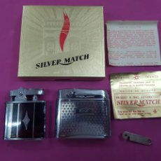 Coleccionismo: LOTE 2 MECHEROS SILVER MATCH Y OMEGA. Lote 221114818