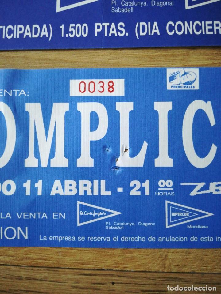 Coleccionismo: Anuncio e invitación del concierto de Cómplices en Barcelona sala zeleste - Foto 3 - 221434363