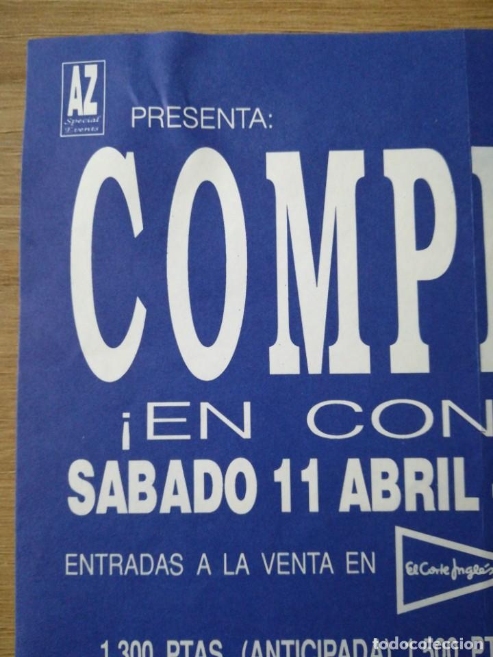 Coleccionismo: Anuncio e invitación del concierto de Cómplices en Barcelona sala zeleste - Foto 4 - 221434363