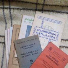Coleccionismo: LOTE 9 PUBLICACIONES COLOMBOFILIA. Lote 221508143