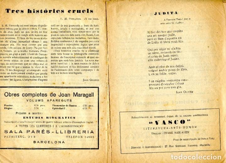 Coleccionismo: Butlletí editoriall (Abril 1930) Els llibres del mes ( Establiments Maragall Sala Parés, Barcelona) - Foto 3 - 221517077
