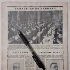 Collectionnisme: CANALEJAS EN TARRASA. 1904. Lote 221721438