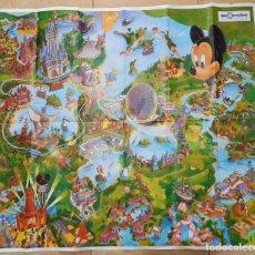 Coleccionismo: ANTIGUO PLANO ORIGINAL WALT DISNEY WORLD RESORT 100X70 CM MUY BUEN ESTADO. Lote 221737836