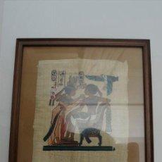 Coleccionismo: PAPIRO EGIPCIO ENMARCADO. Lote 221741450