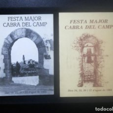 Coleccionismo: PROGRAMA DE FESTA MAJOR CABRA DEL CAMP 1983- 1984. Lote 221741612