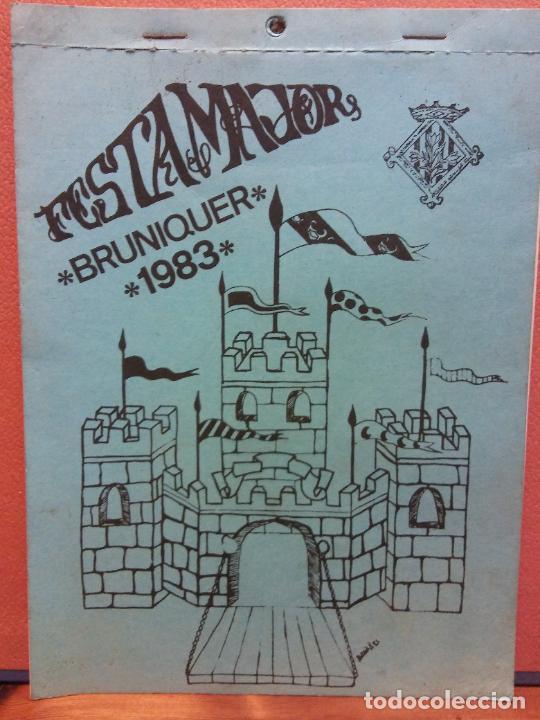 FESTA MAJOR DE BRUNIQUER 1983. CAIXA DE BARCELONA (Coleccionismo - Laminas, Programas y Otros Documentos)