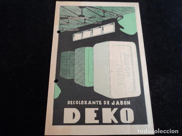 ANTIGUA PUBLICIDAD DECOLORANTE DE JABON DEKO 1947 (Coleccionismo - Laminas, Programas y Otros Documentos)
