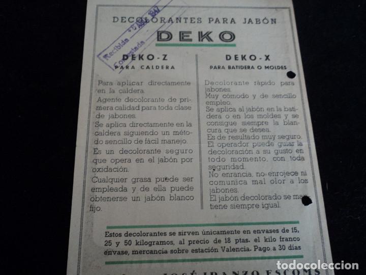 Coleccionismo: antigua publicidad decolorante de jabon deko 1947 - Foto 2 - 221787675