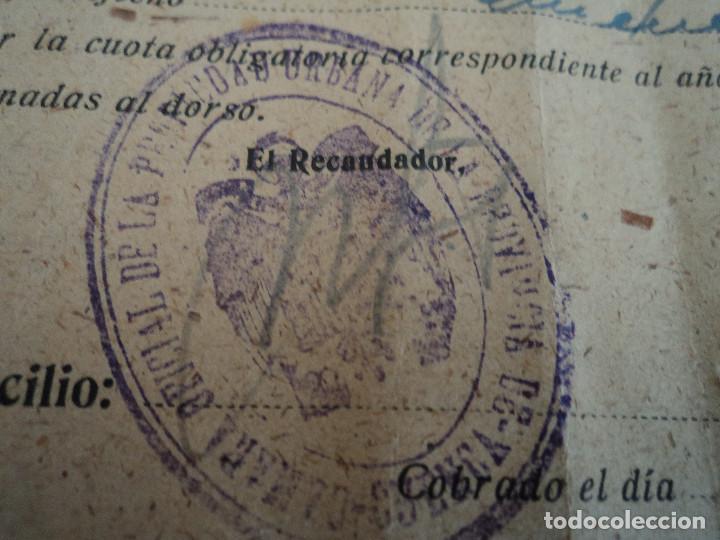 Coleccionismo: camara oficial de la propiedad urbana de cuenca, villagarcia del llano 1943 - Foto 2 - 221788895