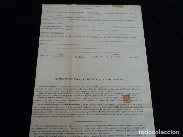 Coleccionismo: Red Nacional de Ferrocarriles Españoles. cuadro de servicio de la estacion De Ronda 1969 39 x 27 cm - Foto 7 - 221791066