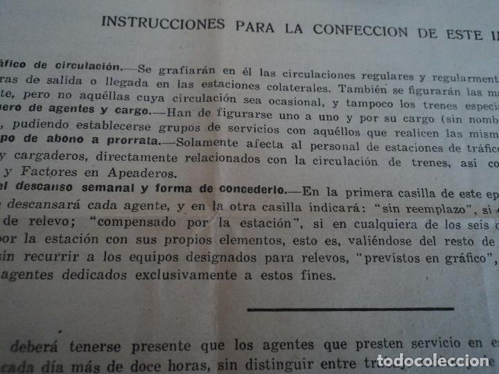 Coleccionismo: Red Nacional de Ferrocarriles Españoles. cuadro de servicio de la estacion De Ronda 1969 39 x 27 cm - Foto 8 - 221791066