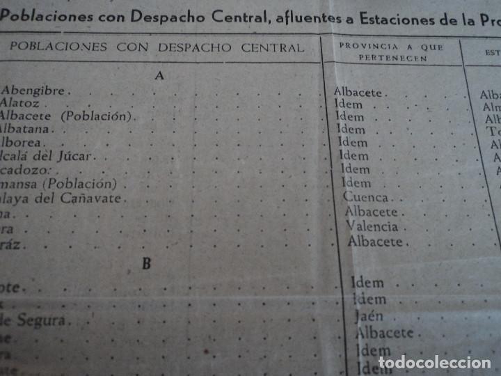 Coleccionismo: despachos centrales de ferrocarriles españoles en valencia, albacete jaen y cuenca, 42 x 22 cm - Foto 3 - 221791527