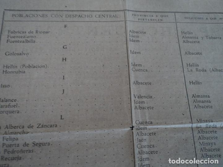 Coleccionismo: despachos centrales de ferrocarriles españoles en valencia, albacete jaen y cuenca, 42 x 22 cm - Foto 4 - 221791527