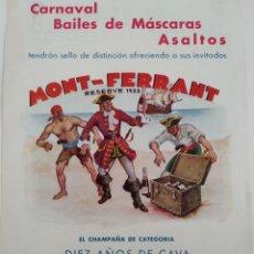 Coleccionismo: PUBLICIDAD PERTENECIENTE A REVISTA AÑO 1933-1934 24CMX17CM.MONT-FERRANT. Lote 221878985