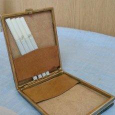 Coleccionismo: PITILLERA ANTIGUA EN PIEL. PRECIOSA PIEZA.. Lote 221886077
