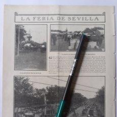 Coleccionismo: LA FERIA DE SEVILLA / SOCIEDAD DE PORTEROS DE MADRID. 1907.. Lote 221890946