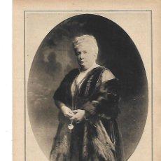 Coleccionismo: AÑO 1915 RECORTE PRENSA FAMILIA REAL ESPAÑOLA RETRATO INFANTA DOÑA ISABEL FOTOGRAFIA KAULAK. Lote 221957016
