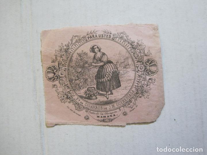 Coleccionismo: CUBA-HABANA-FABRICA DE CIGARROS DE J.M. GUEREDIAGA-PUBLICIDAD-VER FOTOS-(74.972) - Foto 2 - 221960506