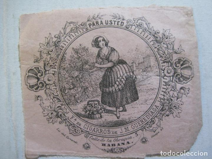 Coleccionismo: CUBA-HABANA-FABRICA DE CIGARROS DE J.M. GUEREDIAGA-PUBLICIDAD-VER FOTOS-(74.972) - Foto 3 - 221960506