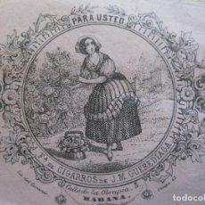 Coleccionismo: CUBA-HABANA-FABRICA DE CIGARROS DE J.M. GUEREDIAGA-PUBLICIDAD-VER FOTOS-(74.972). Lote 221960506