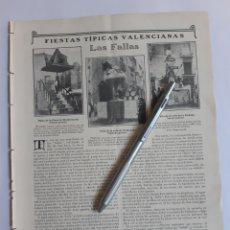 Coleccionismo: LAS FALLAS, FIESTAS TÍPICAS VALENCIANAS. 1907.. Lote 221993530