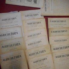Colecionismo: LOTE REVISTAS. AGRICULTURA. JOSEP M.ª VALLS. AÑO 1918.. Lote 222011627
