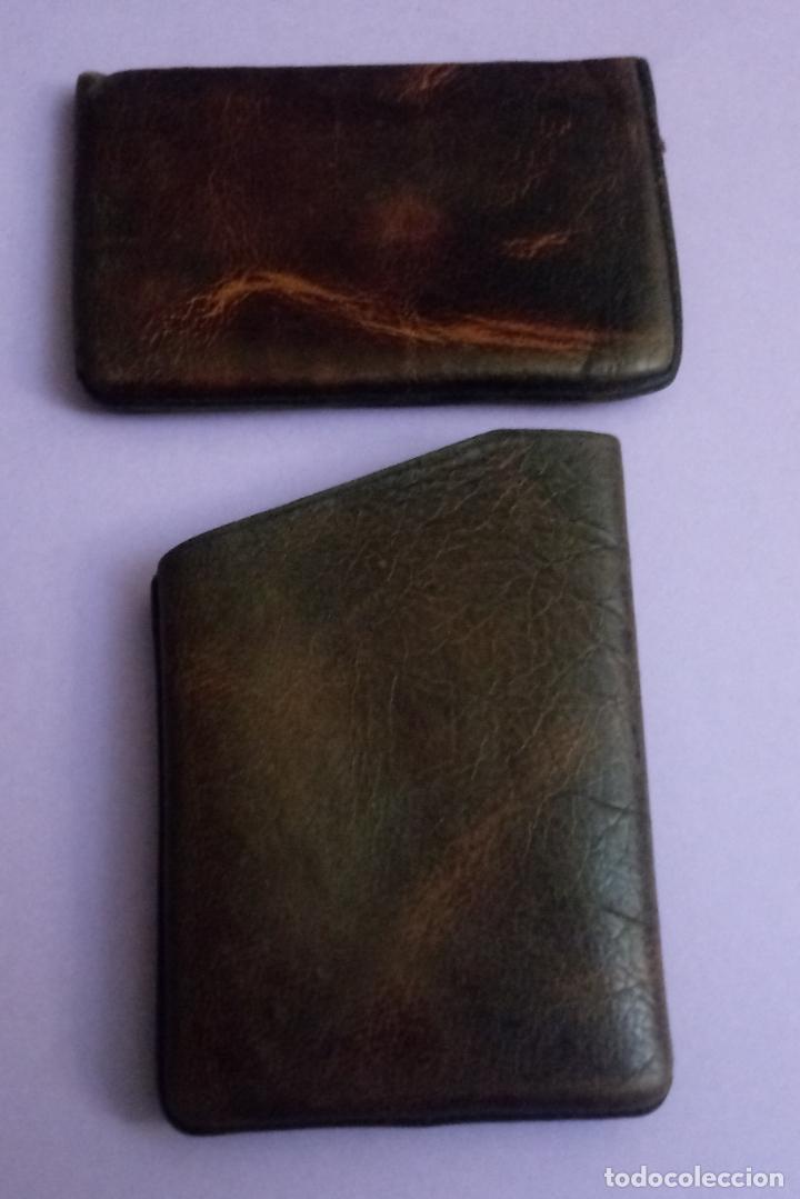 BOLSO DE PIEL - CUERO - PETACA TABACO - PITILLERA - 10 X 6.5 CMS (Coleccionismo - Objetos para Fumar - Otros)