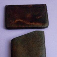 Coleccionismo: BOLSO DE PIEL - CUERO - PETACA TABACO - PITILLERA - 10 X 6.5 CMS. Lote 222306090