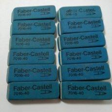 Coleccionismo: LOTE 12 GOMAS DE BORRAR FABER-CASTELL 7016-40. Lote 222350147