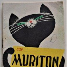 Coleccionismo: PUBLICIDAD MURITON RATICIDA PROGRAMA FESTEJOS GRAN SEMANA FALLERA DE VALENCIA AÑO 1963. Lote 222492407