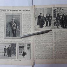 Collezionismo: JAIME DE BORBÓN EN MADRID / ALFONSO XIII EN CARTAGENA. 1907. Lote 222546340
