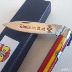 Coleccionismo: NAVAJA DIVISIÓN AZUL SANTA CRUZ DE MUDELA FALANGE. Lote 222590913