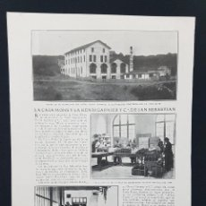 Coleccionismo: 1913.HOJA.LA CASA MONS Y LA HENRI GARNIER Y C.ª DE SAN SEBASTIAN.DESTILERIA COÑAC. Lote 222691350