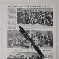 Coleccionismo: LA FIESTA DE REYES EN MADRID. 1918. Lote 222827050