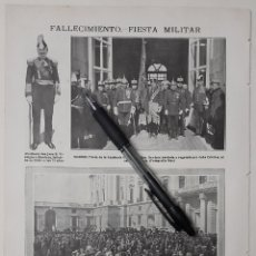 Coleccionismo: FALLECIMIENTO (EN CÁDIZ) FIESTA MILITAR (EN MADRID) / EL VOTO (CUADRO DE E. SERRA) 1918. Lote 222830083