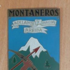 Coleccionismo: PLACA CENTURIA DE MONTAÑEROS DEL FRENTE DE JUVENTUDES. Lote 223406462