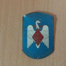 Coleccionismo: PLACA ACADEMIA PREPARATORIA MILITAR DEL FRENTE DE JUVENTUDES. Lote 223406597
